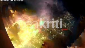 Ηράκλειο: Εικόνες σοκ από τον εμπρησμό σε κομμωτήριο – video