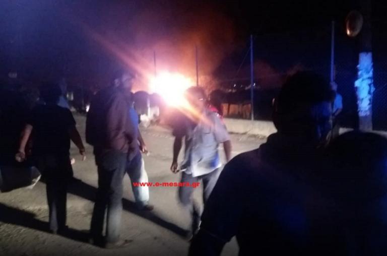 Έκρηξη σε ρακοκάζανο στην Κρήτη! Μεγάλη φωτιά σε εξέλιξη   Newsit.gr