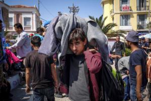 Διαμαρτυρία Αφγανών στη Μόρια