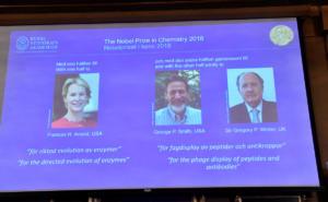 Νόμπελ Χημείας 2018 σε δυο άνδρες και μια γυναίκα
