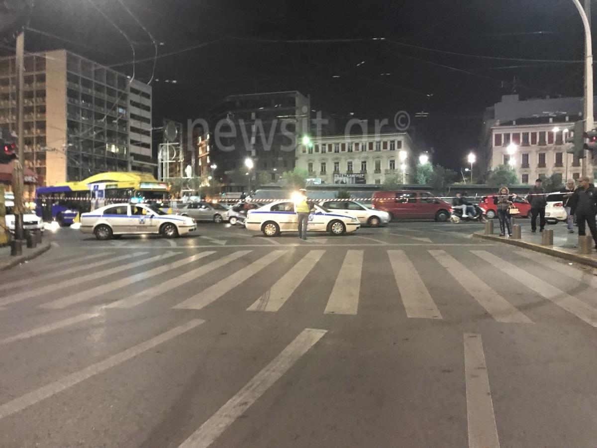 επίθεση στο ΑΤ Ομονοίας αστυνομικοί