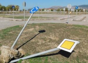 Μεσολόγγι: Καταστροφική μανία σε πάρκο κυκλοφοριακής αγωγής – Διέλυσαν ακόμα και την περίφραξη [pic]