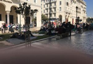 Θεσσαλονίκη: Βουλευτές της ΝΔ στους πρόσφυγες της Αριστοτέλους