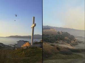 Χαλκιδική: Όλη νύχτα πάλευαν με τις φλόγες! Από χθες καίει η μεγάλη φωτιά