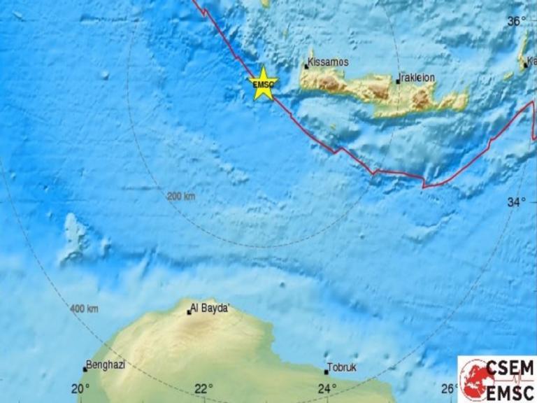 Σεισμός 4,4 Ρίχτερ τα ξημερώματα στην Κρήτη!   Newsit.gr