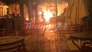 Πάτρα: Επίθεση με μολότοφ στο αστυνομικό μέγαρο!