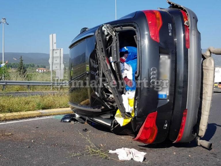 Φθιώτιδα: Δυνατή σύγκρουση στην αερογέφυρα της Αγίας Μαρίνας [pics] | Newsit.gr