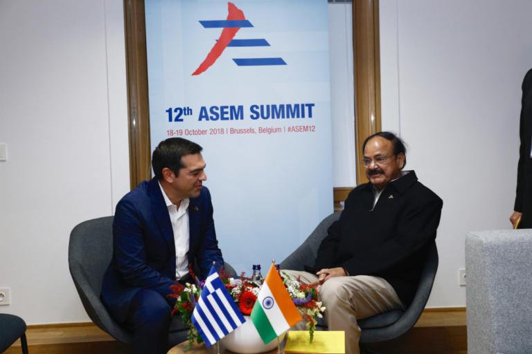 Διμερείς συναντήσεις του Αλέξη Τσίπρα με τους αντιπροέδρους της Ινδίας και της Ινδονησίας