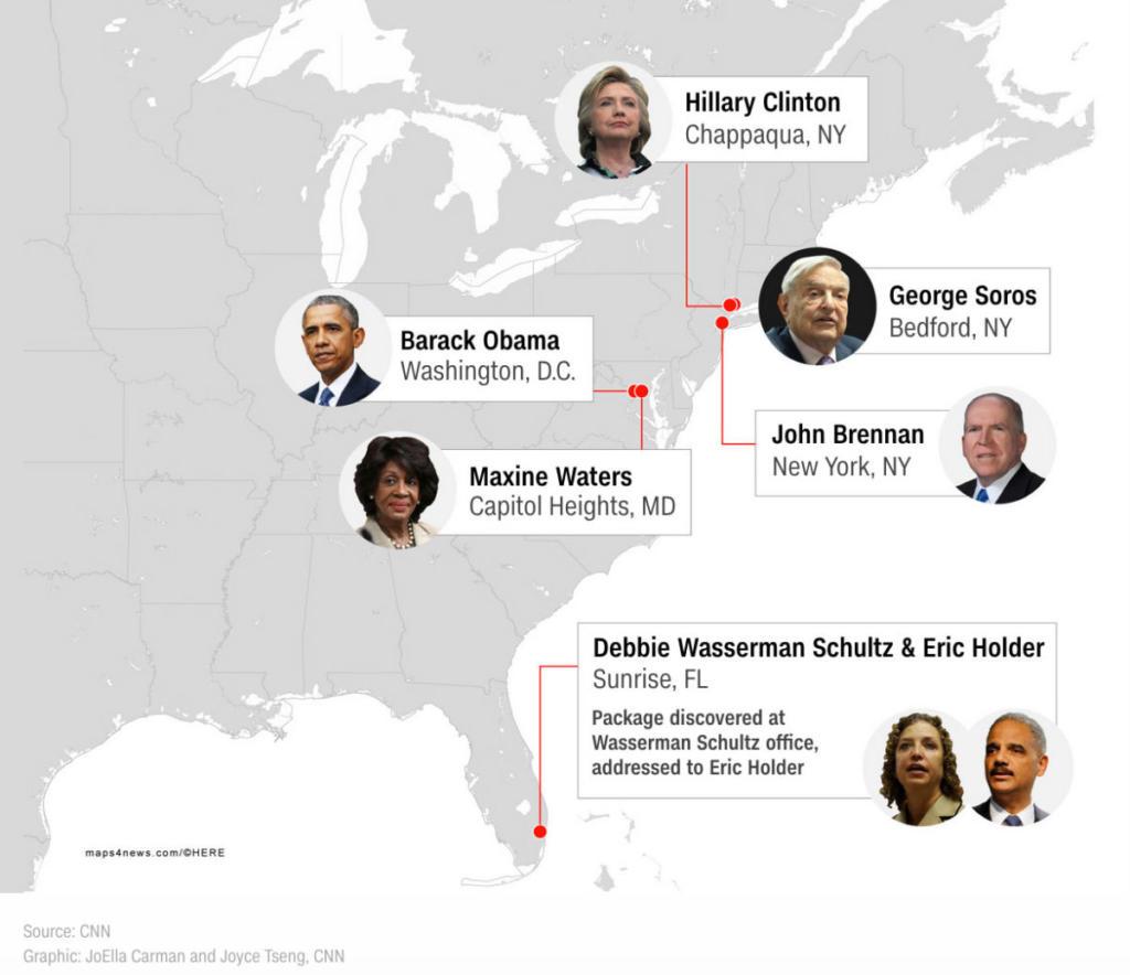 Σε κλοιό TΡΟΜΟΥ οι ΗΠΑ: Ολοένα και περισσότερα πακέτα-βόμβες προς πολιτικούς ανακαλύπτουν οι Αρχές...