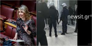 Παπακώστα για επιθέσεις σε αστυνομικούς: Να αυτοπροστατευτούν! Οργή της ΝΔ – Video