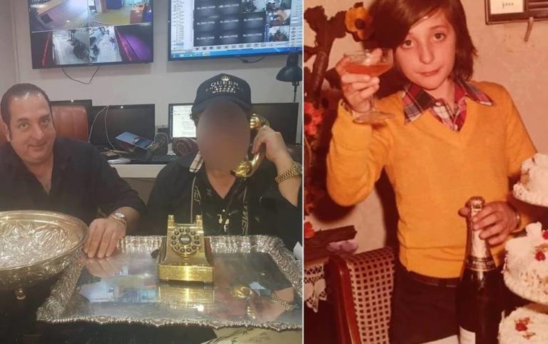 Ριχάρδος: Το ολόχρυσο τηλέφωνο 4,6 κιλών και η παιδική φωτογραφία με τη σαμπάνια στο χέρι!