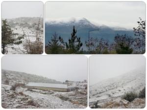 Χιόνια σε Ιωάννινα και Τρίκαλα – Οι πρώτες εικόνες