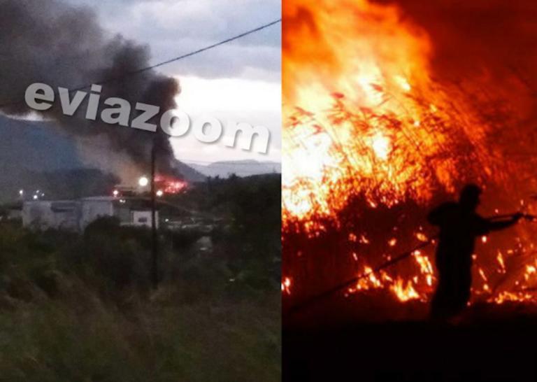 Μεγάλη φωτιά στη Χαλκίδα