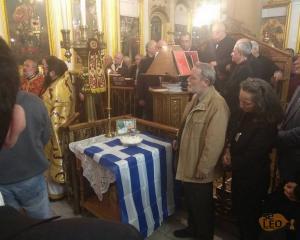 Θεσσαλονίκη: Μνημόσυνο για τον Κωνσταντίνο Κατσίφα – Η στιγμή που ο εθνικός μας ύμνος αντηχεί στην εκκλησία – video
