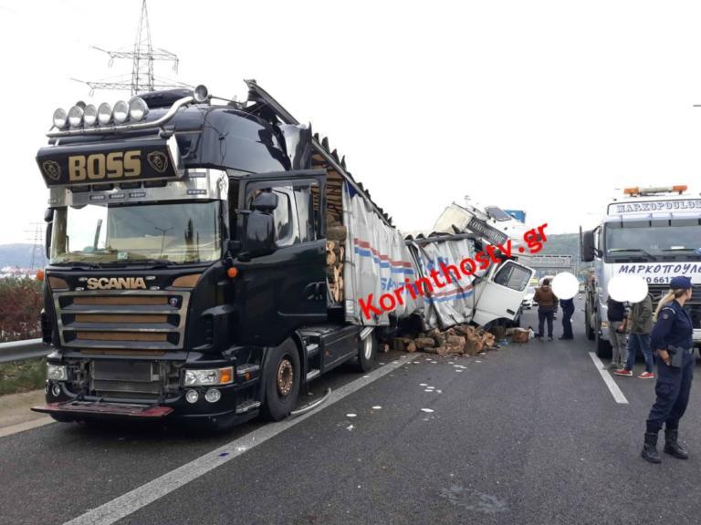 Τροχαίο Αθηνών – Κορίνθου: Συγκρούστηκαν νταλίκες και διακόπηκε η κυκλοφορία – Οι πρώτες εικόνες [pics] | Newsit.gr