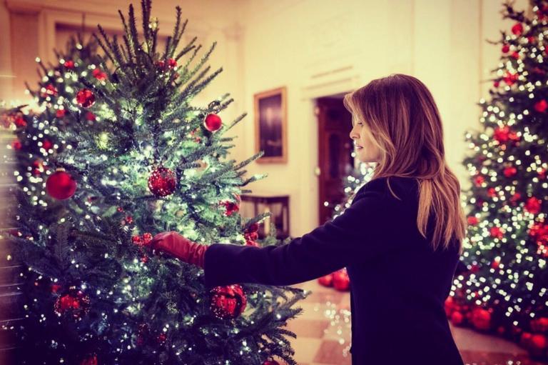 Μελάνια Τραμπ: «Ξεκλήρισε» όλα τα Χριστουγεννιάτικα δέντρα! video, pics   Newsit.gr