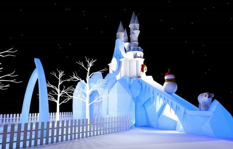 """Η Λάρισα υποδέχεται τα Χριστούγεννα με το """"Παγωμένο Βασίλειο""""! [pic]"""