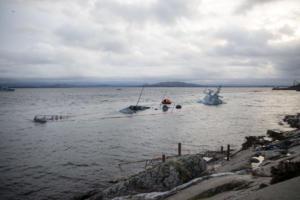 Η θάλασσα «κατάπιε» την Νορβηγική φρεγάτα – Είχε συγκρουστεί με ελληνόκτητο τάνκερ [pics]