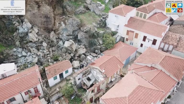 Εικόνες που κόβουν την ανάσα από την κατολίσθηση στη Λέσβο – Αυτή είναι η περιοχή που εκκενώθηκε – video | Newsit.gr