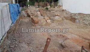 Αποκαλύφθηκε μέρος από το τείχος της Αρχαίας πόλης της Λαμίας – video