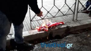Πολυτεχνείο: Έκαψαν την αμερικανική σημαία στη Θεσσαλονίκη – video