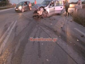Τρεις τραυματίες σε τροχαίο στην Κόρινθο – video