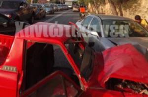 Χανιά: Τροχαίο στην οδό Κωνσταντίνου Μητσοτάκη – Στο νοσοκομείο οι τρεις τραυματίες [pics]