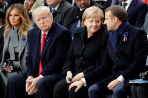 Τραμπ σε Μακρόν: Μιλούσατε ήδη γερμανικά στο Παρίσι όταν ήρθαμε να σας σώσουμε!