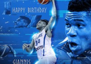 Αντετοκούνμπο: Η FIBA ευχήθηκε στον «Greek freak»! [pic]