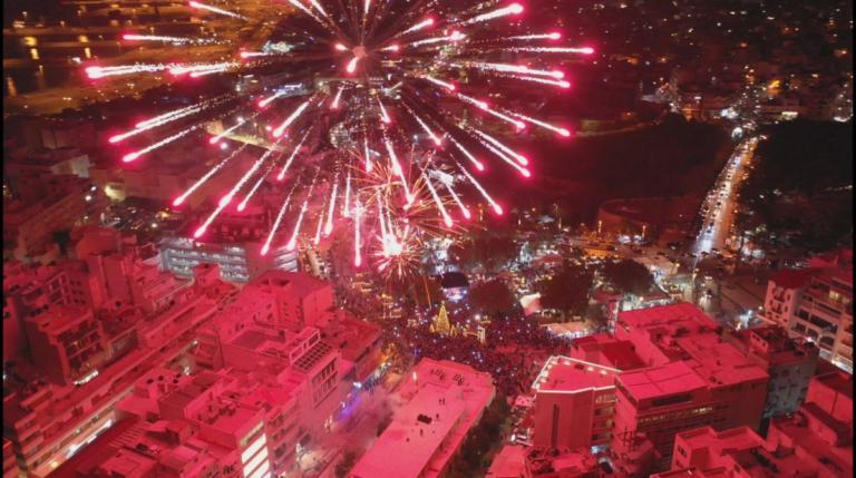 Ηράκλειο: Εκπληκτικές εικόνες από drone – Ο κόκκινος ουρανός και η αντίστροφη μέτρηση για τα Χριστούγεννα [pics] | Newsit.gr