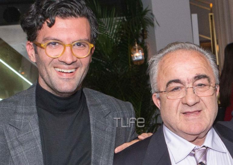 Γιώργος Παπακώστας: Με τον πατέρα του στα λαμπερά εγκαίνια του νέου ιταλικού εστιατορίου του!