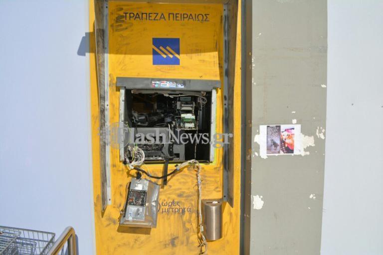 Ανατίναξαν ATM στα Χανιά – Εικόνες καταστροφής [pics] | Newsit.gr