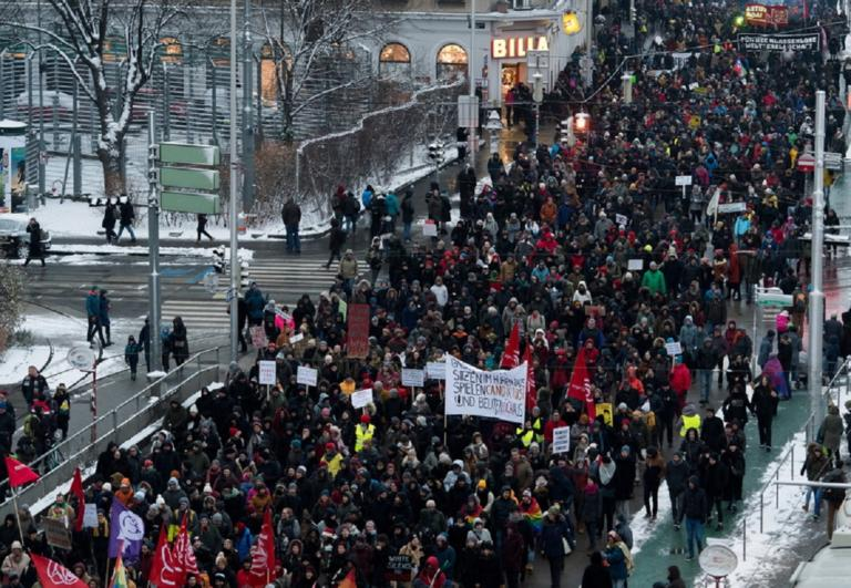 Αυστρία: Στους δρόμους κατά της συγκυβέρνησης δεξιάς-ακροδεξιάς! | Newsit.gr