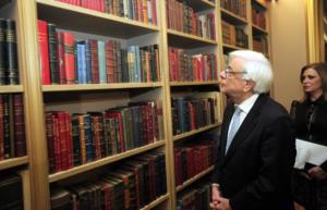 Εγκαίνια της βιβλιοθήκης της ΕΣΗΕΑ παρουσία του Προέδρου της Δημοκρατίας