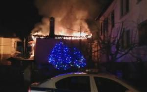 Καστοριά: Μεγάλη φωτιά στην παλιά συνοικία Ντολτσό – Ο απολογισμός της καταστροφής – video