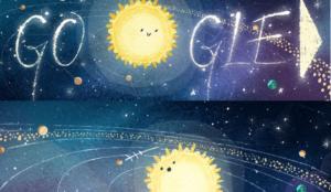 Bροχή μετεωριτών Geminid στο Google Doodle