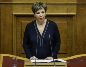 Γεροβασίλη: Η ΝΔ δεν καταδικάζει καν τις απειλές εναντίον βουλευτών