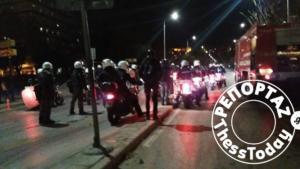 Αστυνομική επιχείρηση στο Αριστοτέλειο – Προσαγωγές μετά τα επεισόδια – video