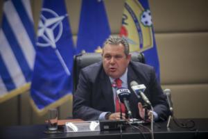 Καμμένος προς Σκόπια: Όσο προκαλείτε η πόρτα της Ελλάδας θα είναι κλειστή