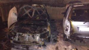 Κοζάνη: Έκρηξη σε δυο οχήματα σε πυλωτή πολυκατοικίας – video