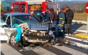 """Φθιώτιδα: """"Έσβησε"""" ο ένας οδηγός του πρωινού τροχαίου"""