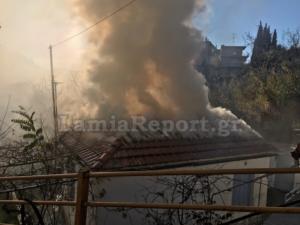 Λαμία: Φωτιά σε σπίτι κοντά στο Δημαρχείο