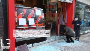 Έσπασαν το μαγαζί του ανθρώπου που καταγγέλλεται ότι χτύπησε τον ντελιβερά