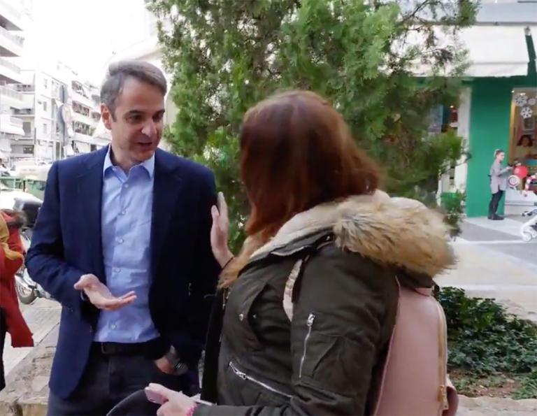 Κυριάκος Μητσοτάκης: Η βόλτα στη Νέα Σμύρνη και η… κυρία με το καροτσάκι – video
