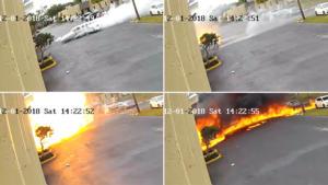 Φοβερό δυστύχημα: Αεροπλάνο τυλίγεται στις φλόγες – Σκληρές εικόνες