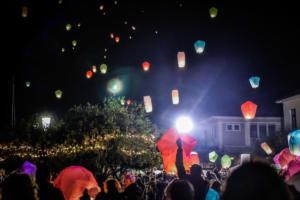 Η «Νύχτα των Ευχών» στην Πρέβεζα – Δεκάδες φαναράκια φώτισαν τον ουρανό [pics]