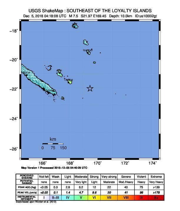 σεισμός Νέα Καληδονία