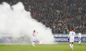 "Champions League: ""Χαμός"" στην Ουκρανία! Οπαδοί της Ντινάμο ""χτύπησαν"" στο Σαχτάρ – Λιόν [pics]"