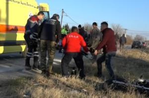 Κιλκίς: Πάγωσαν με τον τραυματισμό οδηγού μηχανής – Μετωπική σύγκρουση με αυτοκίνητο στο αντίθετο ρεύμα – video