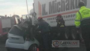 Κρήτη: Σκοτώθηκε σε φοβερό τροχαίο – Σπαραγμός για τον άτυχο οδηγό που «καρφώθηκε» σε νταλικά!